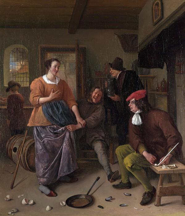 Ян Стен - Интерьер таверны (Разбитые яйца). Часть 4 Национальная галерея