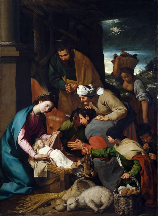 Italian, Neapolitan - The Adoration of the Shepherds. Part 4 National Gallery UK