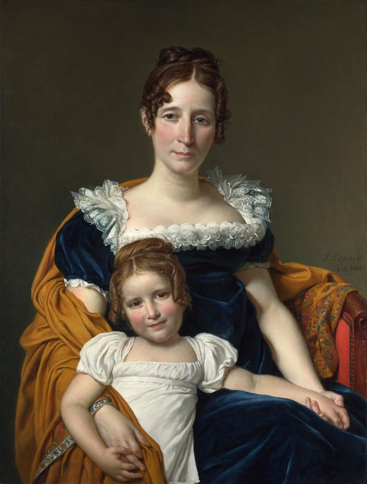 Portrait of the Comtesse Vilain XIIII and her Daughter. Jacques-Louis David