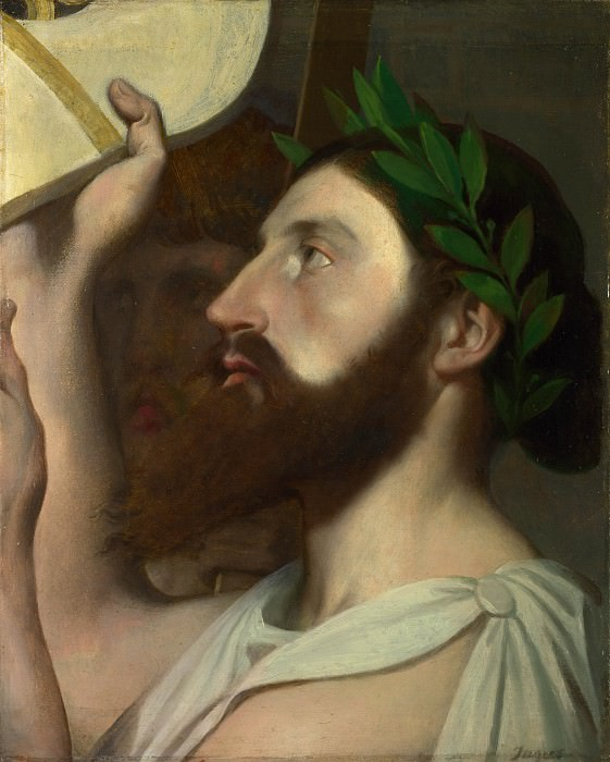 Jean-Auguste Dominique Ingres - Pindar and Ictinus. Part 4 National Gallery UK