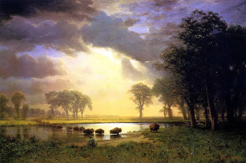 Bierstadt Albert The Buffalo Trail. Albert Bierstadt