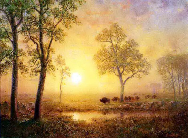 Закат над горой. Альберт Бирштадт