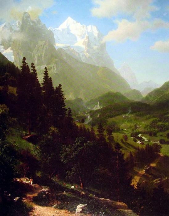 The Wetterhorn. Albert Bierstadt
