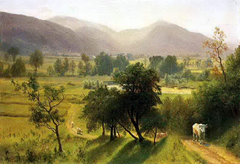 Bierstadt Albert Conway Valley New Hampshire. Albert Bierstadt