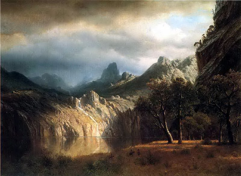Bierstadt Albert In Western Mountains. Albert Bierstadt