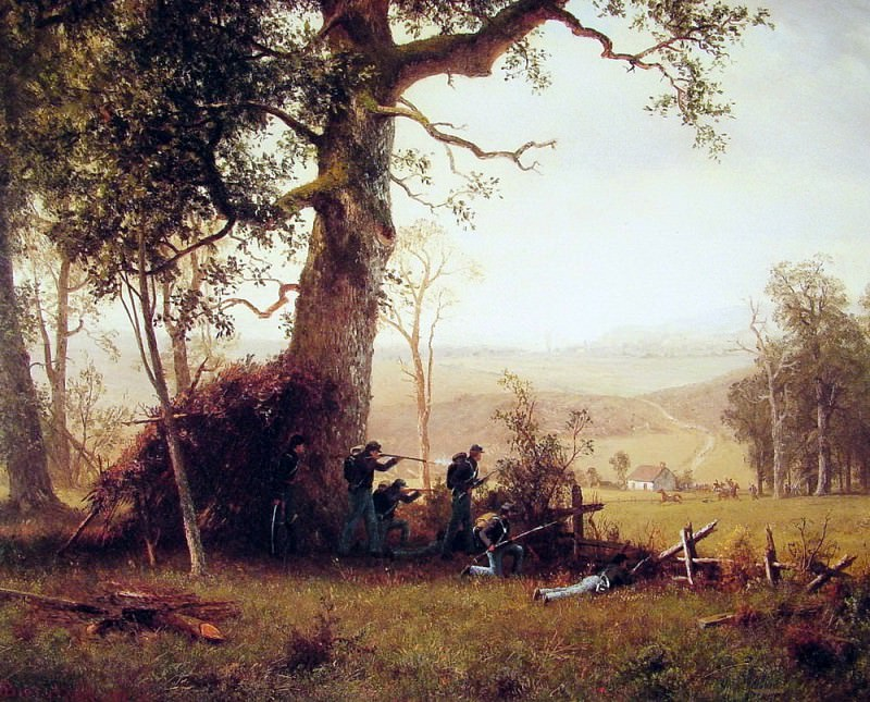 Guerrilla Warfare. Albert Bierstadt