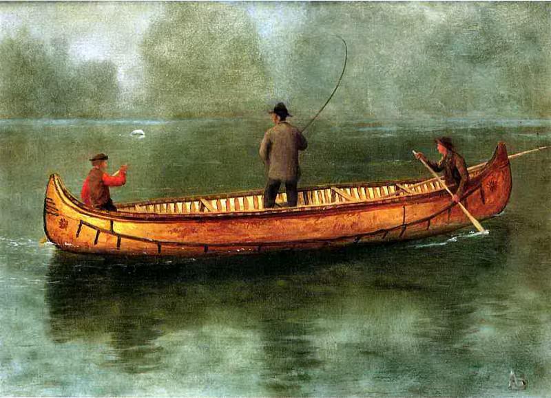 Рыбалка с лодки. Альберт Бирштадт