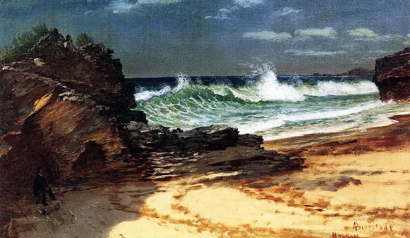 Bierstadt Albert Beach at Nassau. Albert Bierstadt