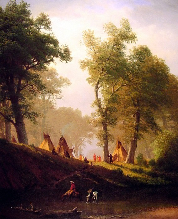 The Wolf River. Albert Bierstadt