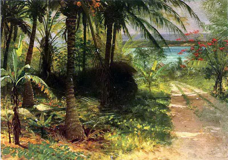 Bierstadt Albert Tropical Landscape. Albert Bierstadt