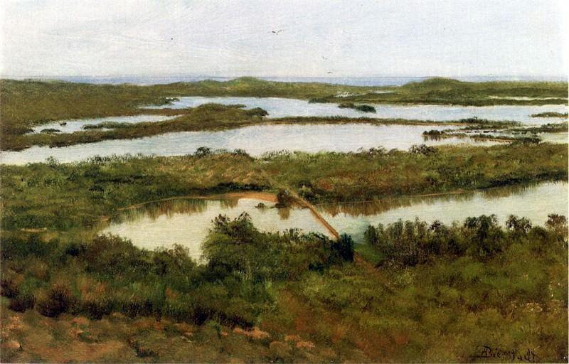 Bierstadt Albert A River Estuary. Albert Bierstadt