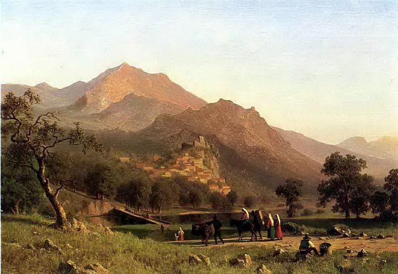 Bierstadt Albert Rocca de Secca. Albert Bierstadt