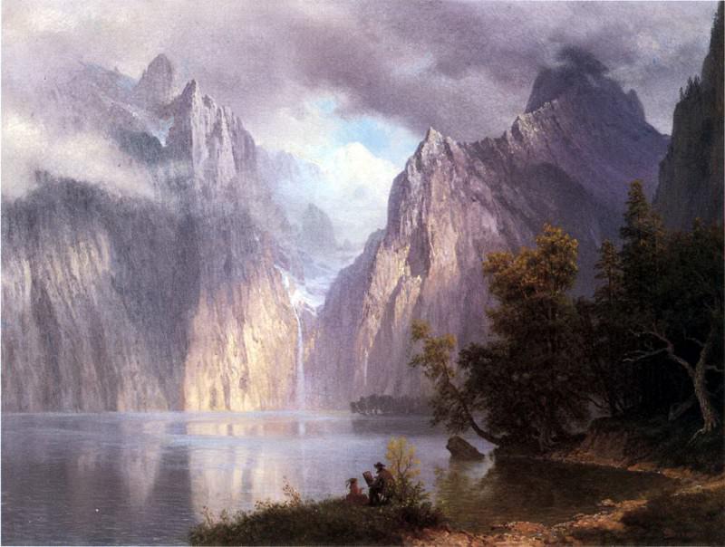 Bierstadt Albert Scene in the Sierra Nevada. Albert Bierstadt