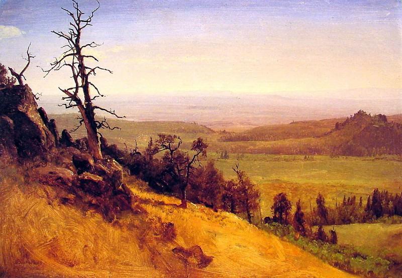 Newbraska Wasatch Mountains. Albert Bierstadt