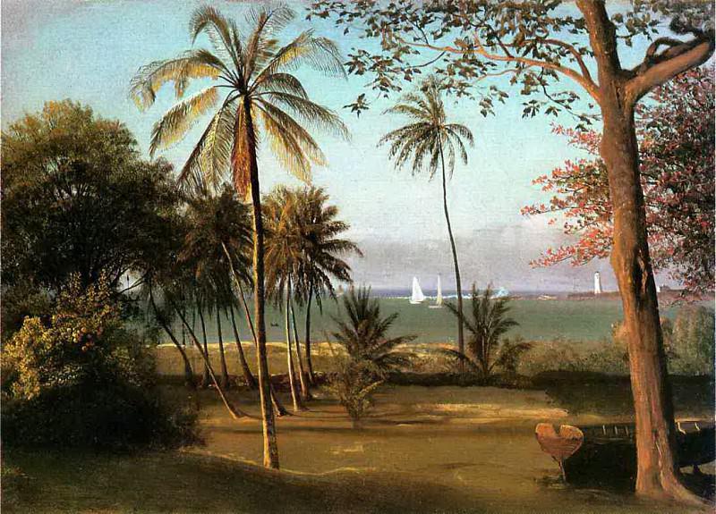 Bierstadt Albert Florida Scene. Albert Bierstadt