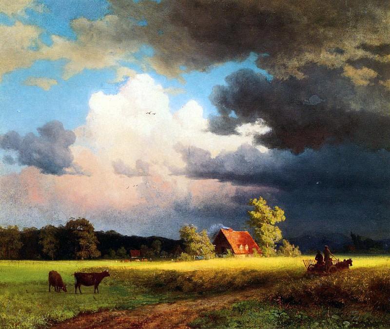 Bierstadt Albert Bavarian Landscape. Albert Bierstadt
