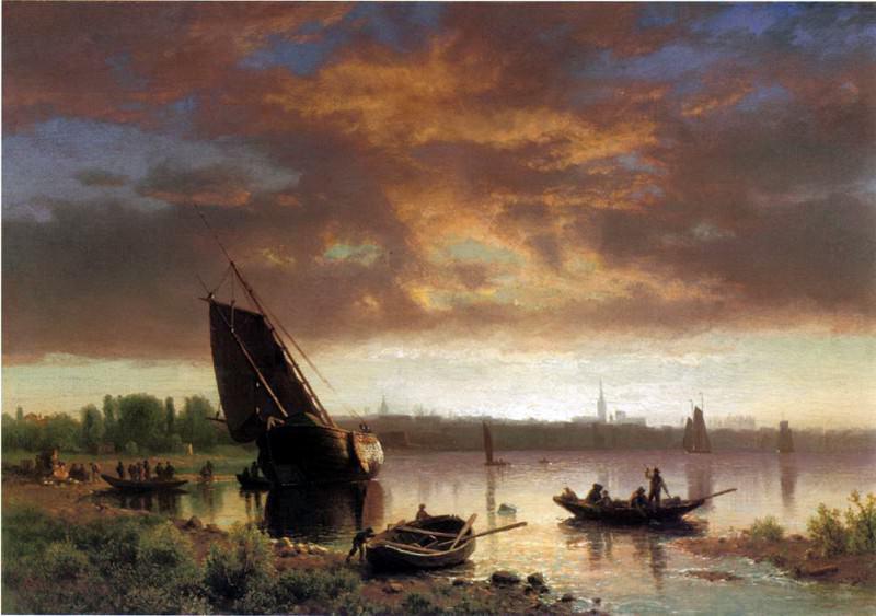 Bierstadt Albert Harbor Scene. Albert Bierstadt