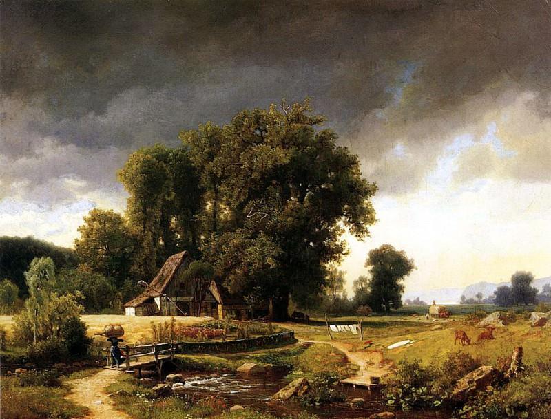 Bierstadt Albert Westphalian Landscape. Albert Bierstadt