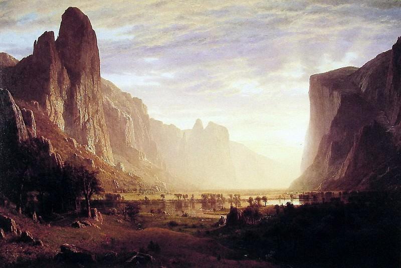 Looking Down Yosemite-Valley. Albert Bierstadt