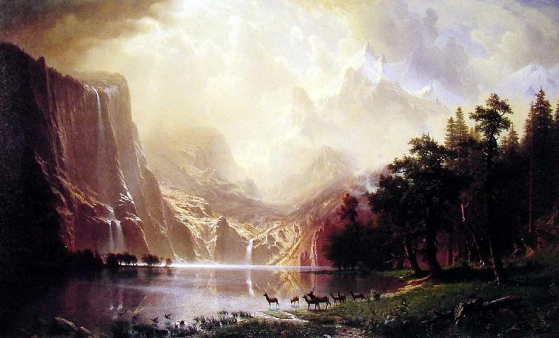 Among the Sierra Nevada Mountains. Albert Bierstadt