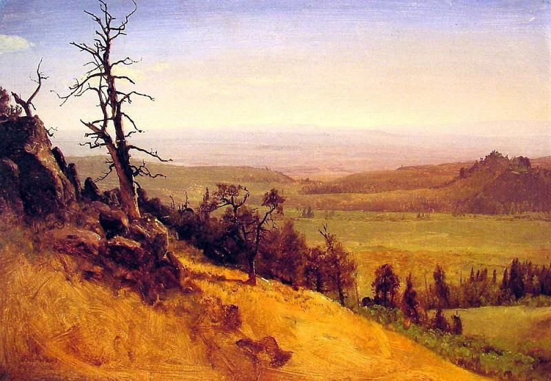 Bierstadt Albert Nebraska Wasatch Mountains. Albert Bierstadt