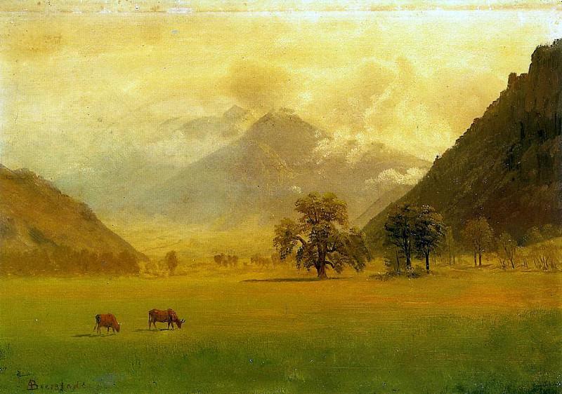 Bierstadt Albert Rhone Valley. Albert Bierstadt