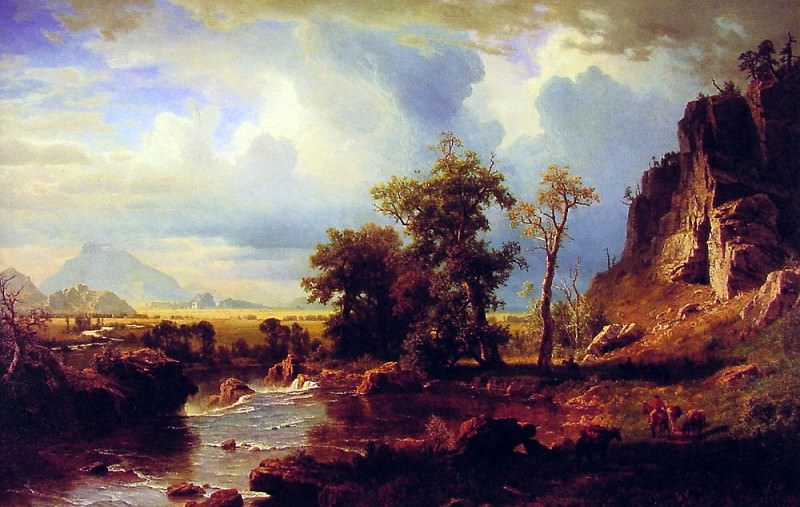 North Fork of the Platte Nebraska. Albert Bierstadt