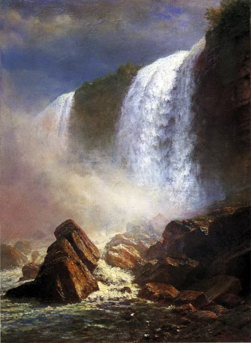Bierstadt Albert Falls of Niagara from Below. Albert Bierstadt