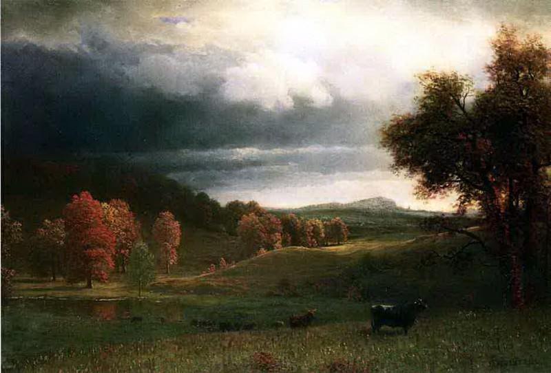Bierstadt Albert Autumn Landscape The Catskills. Albert Bierstadt