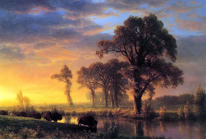 Bierstadt Albert Western Kansas. Albert Bierstadt