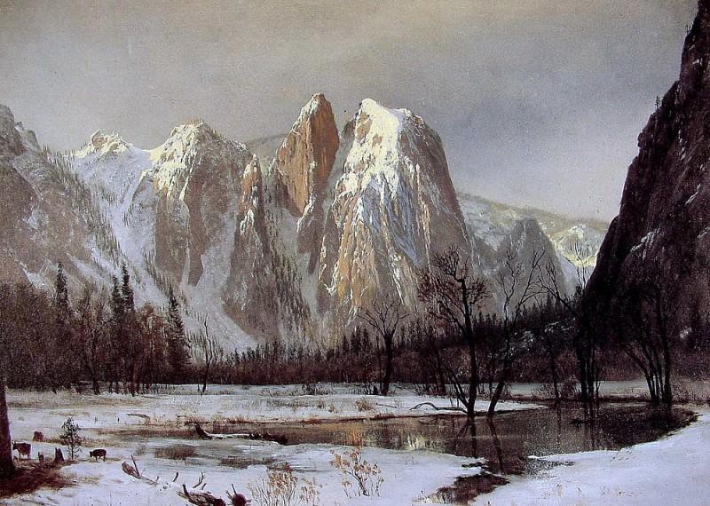 Cathedral Rock. Albert Bierstadt