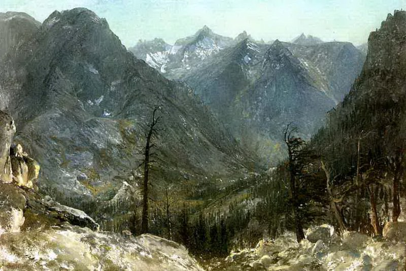 Bierstadt Albert The Sierra Nevadas. Albert Bierstadt