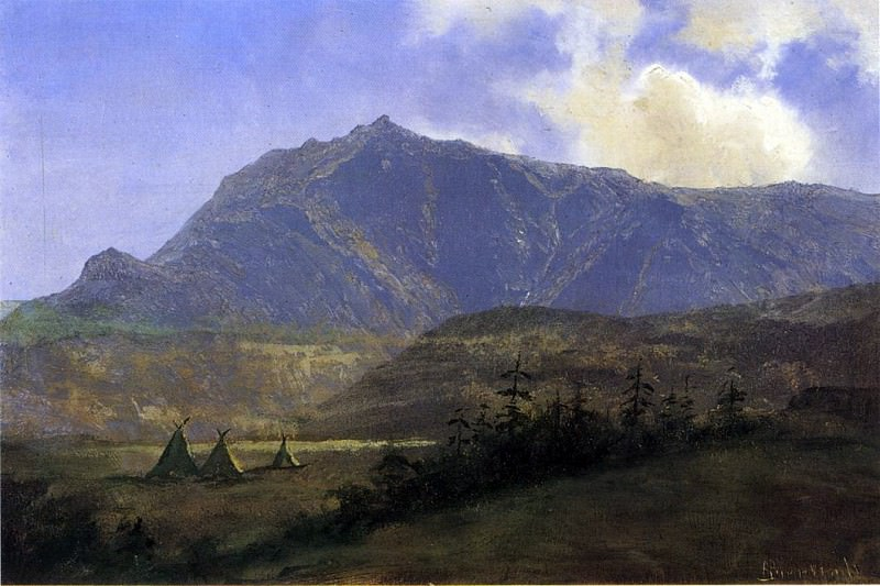 Bierstadt Albert Indian Encampment. Albert Bierstadt