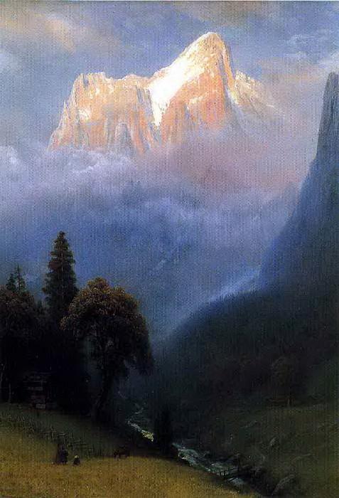 Гроза в Альпах. Альберт Бирштадт