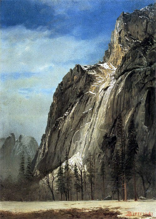 Bierstadt Albert Cathedral Rocks A Yosemite View. Albert Bierstadt