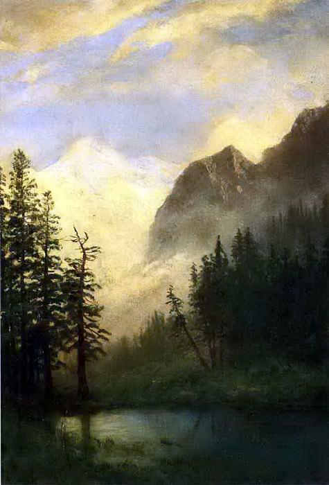 Bierstadt Albert Mountain Landscape. Albert Bierstadt