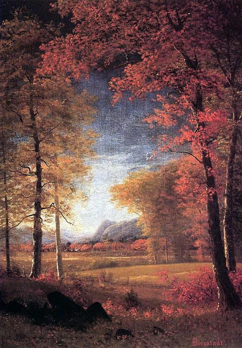 Bierstadt Albert Autumn in America Oneida County New York. Albert Bierstadt