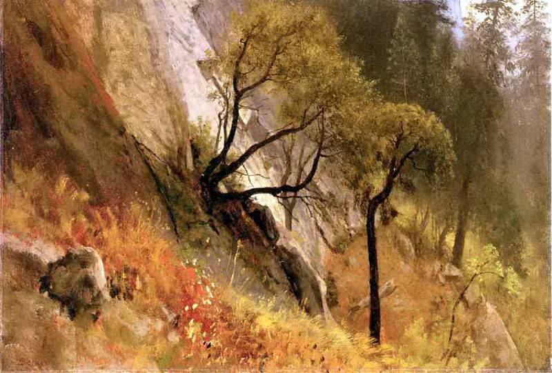 Bierstadt Albert Landscape Study Yosemite California. Albert Bierstadt