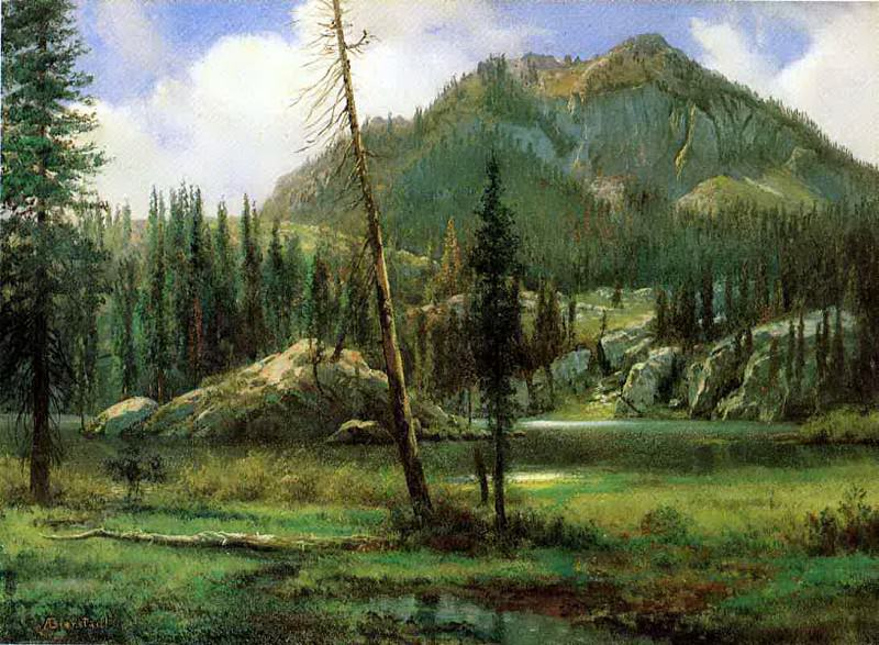 Bierstadt Albert Sierra Nevada Mountains. Albert Bierstadt