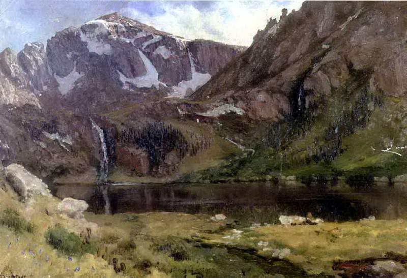Bierstadt Albert Mountain Lake. Albert Bierstadt