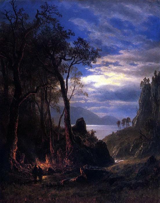 Bierstadt Albert The Campfire. Albert Bierstadt