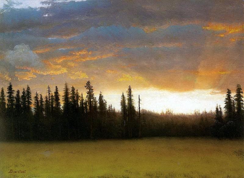 Bierstadt Albert California Sunset. Albert Bierstadt