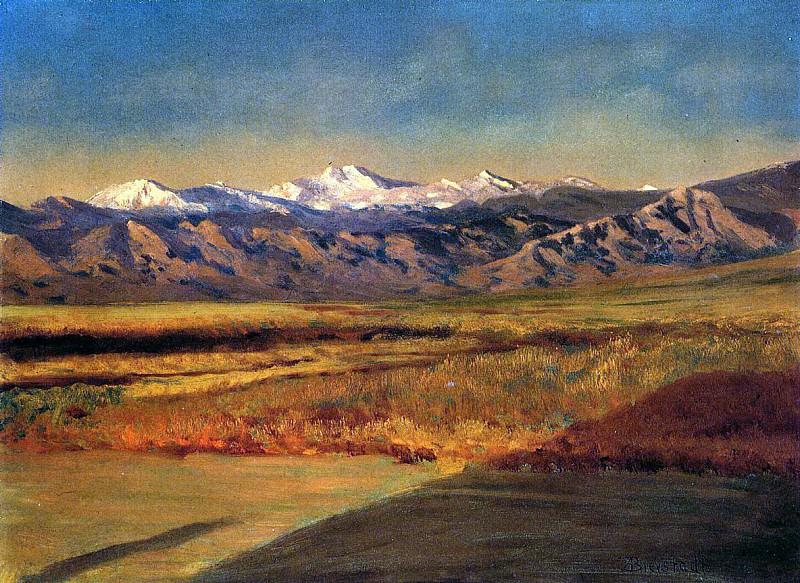 Bierstadt Albert The Grand Tetons. Albert Bierstadt