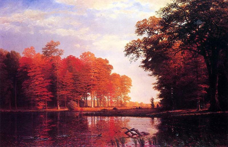 Bierstadt Albert Autumn Woods. Albert Bierstadt