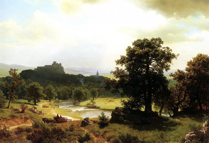 Bierstadt Albert Day-s Beginning. Albert Bierstadt