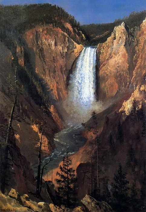 Bierstadt Albert Lower Yellowstone Falls. Albert Bierstadt