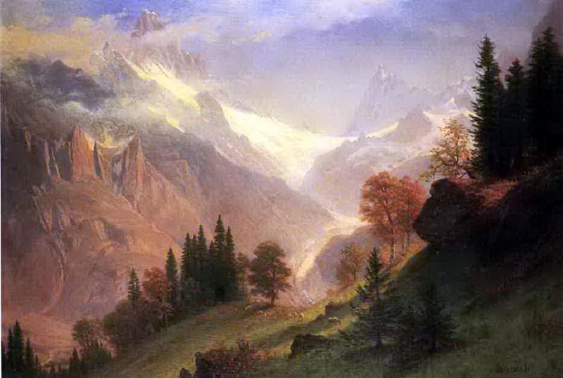 Bierstadt Albert View of the Grindelwald. Albert Bierstadt