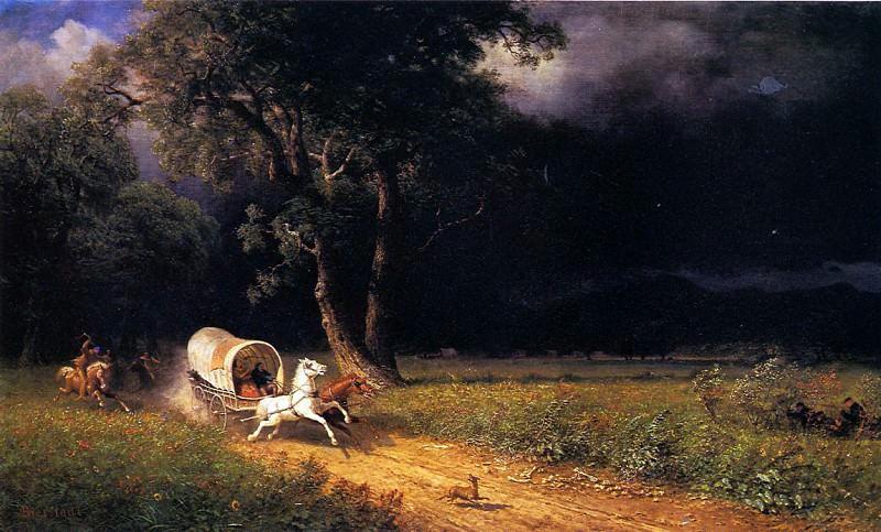 Bierstadt Albert The Ambush. Albert Bierstadt