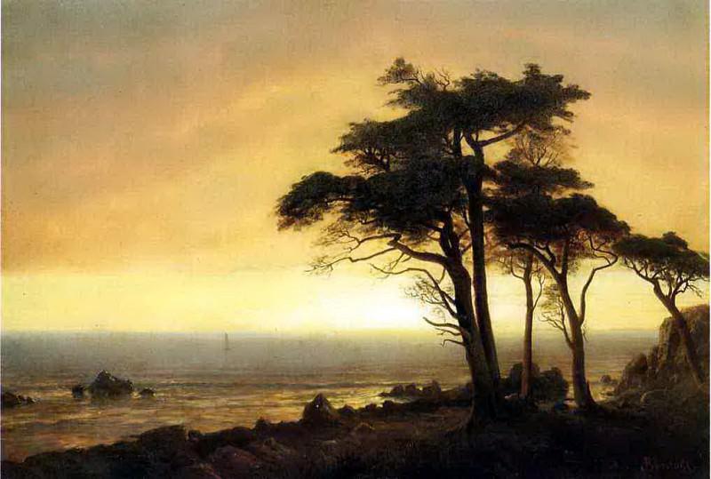 Bierstadt Albert California Coast. Albert Bierstadt