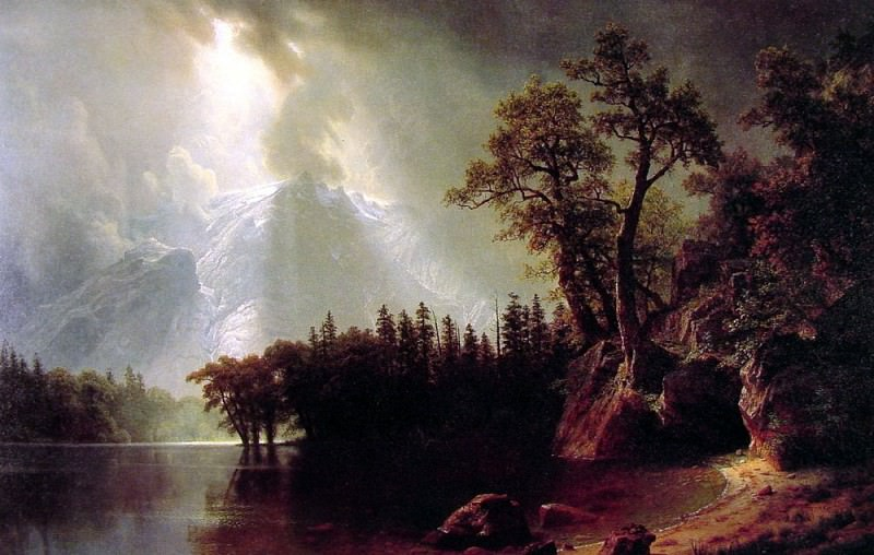 Passing Storm over the Sierra Nevada. Albert Bierstadt